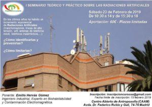 Cartel Seminario Radiaciones Artificiales